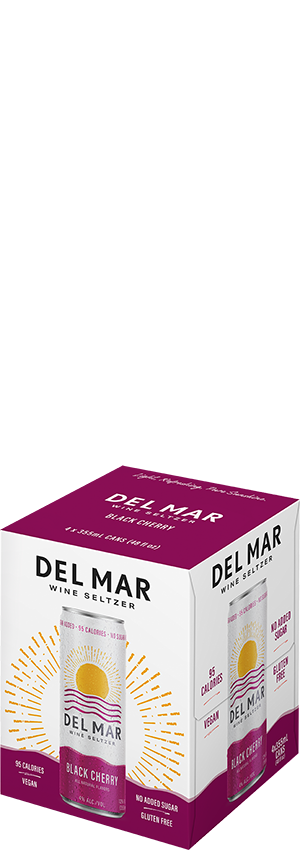 Del Mar Wine Seltzer Black Cherry 12oz Can 4PK