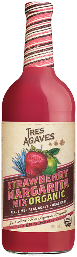 Tres Agaves Strawberry Margarita Daiquiri Mix 1l Usda Organic Mixers One Stop Wine Shop