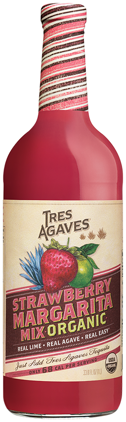 Tres Agaves Strawberry Margarita/Daiquiri Mix 1 L Image