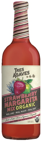Tres Agaves Strawberry Margarita Mix 1 L