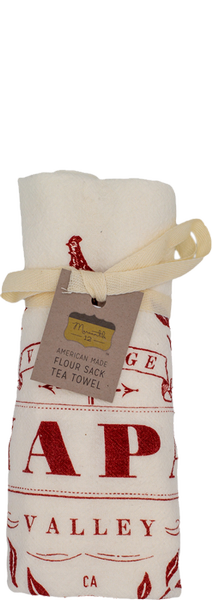 NAPA VALLEY FLOUR SACK TEA TOWEL