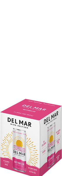 Del Mar Wine Seltzer Watermelon 12oz Can 4PK