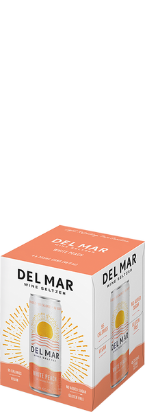 Del Mar Wine Seltzer White Peach 12oz Can 4PK